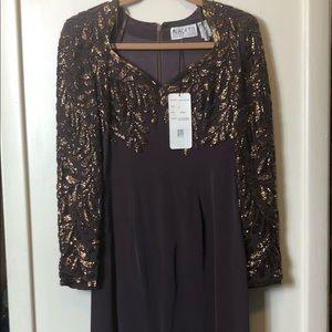 Black Tie Oleg Cassini sweetheart dress. Size 8.